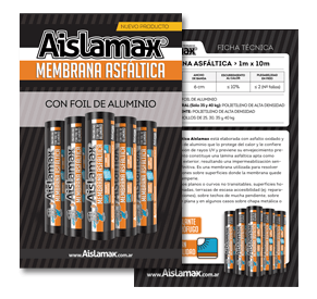 Aislantes Aislamax - membrana Asfáltica - Folleto